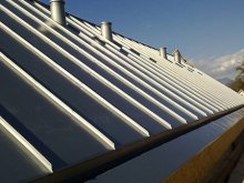 Covering roof with Rheinzink tinplate